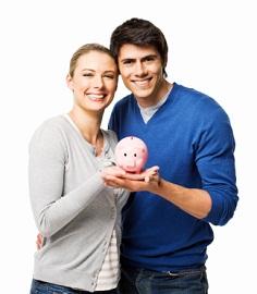 Couple Saving Their Home Loan Deposit